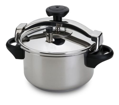 Silampos Stainless Steel Pressure Cooker 4.5/6/8/10/12 Liters Capacity (4.5 Lts)