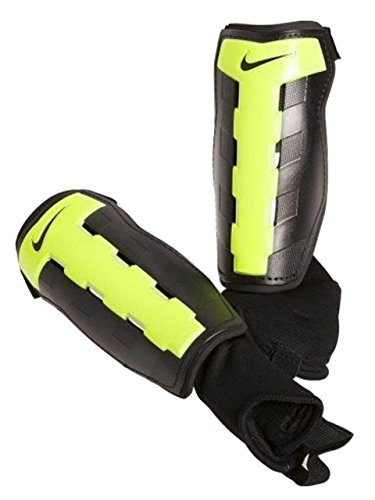 Nike Charge Soccer Shin Guards, Size Extra Small 4' 7' - 4' 11' Recommend Height Range, XS Adult/Youth/Teen/Pre-Teen/Junior/Kids, (Black/Volt)