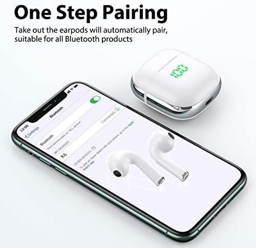 VEATOOL Wireless Earbuds,Bluetooth Headphones with USB-C Suport Wireless Charging Case,Waterproof 30H Play Back in Ear Bluetooth Earphones with Microphones/Touch Control 16