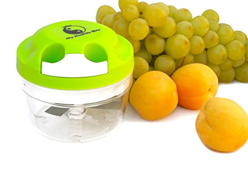 My Healthy Way-mini Food Chopper-Green-Manual Operation-Food Processor-Portion Control -PBA Free