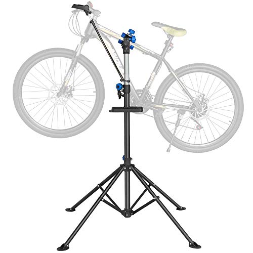 Yaheetech Pro Mechanic Bicycle Repair Workshop Stand Maintenance Rack with Tool Tray Extensible Bike Repair Stand