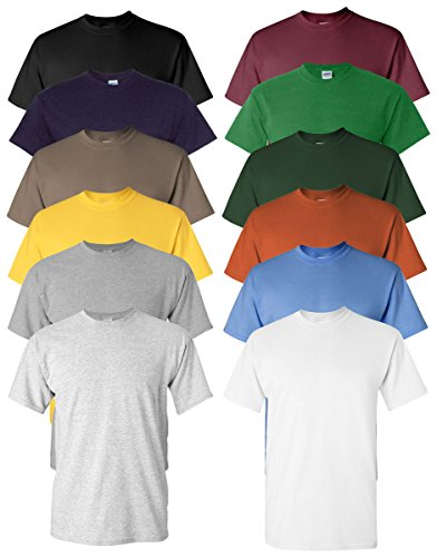 Gildan Men's Heavy Cotton T-Shirt ( 12 Pack ) 1 Fashion Online Shop 🆓 Gifts for her Gifts for him womens full figure