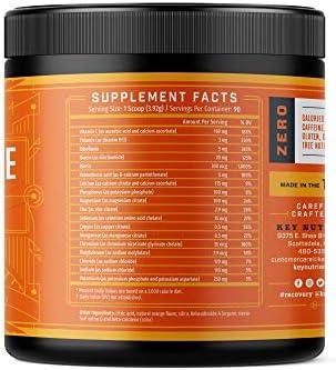 Electrolyte Powder, Orange Hydration Supplement: 90 Servings, Carb, Calorie & Sugar Free, Delicious Keto Replenishment Drink Mix. 6 Key Electrolytes - Magnesium, Potassium, Calcium & More. 4