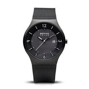 BERING Time 14440-222 Mens Solar Collection Watch with Mesh Band and Scratch Resistant Sapphire Crystal. Designed in Denmark.