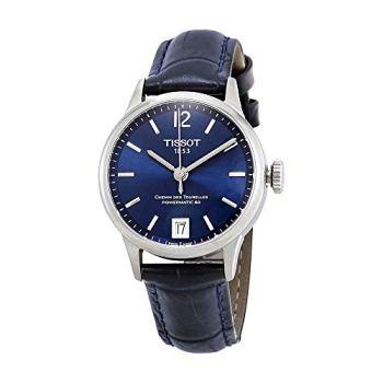 Tissot Chemin des Tourelles Powermatic 80 Blue Leather Watch 32mm T099.207.16.047.00