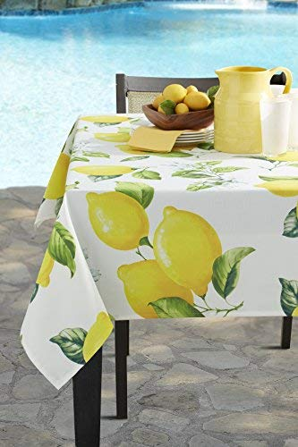 Benson Mills Garden Party Indoor/Outdoor Spillproof Tablecloth (60' X 84' Rectangular, Citrina)