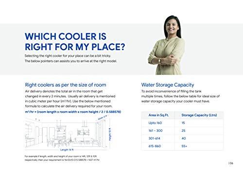 41TMzA0AsEL - Crompton Ozone Desert Cooler - 55 Litres, Grey & White