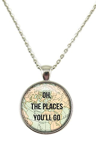 Oh the Places You'll Go Chain Pendant Necklace