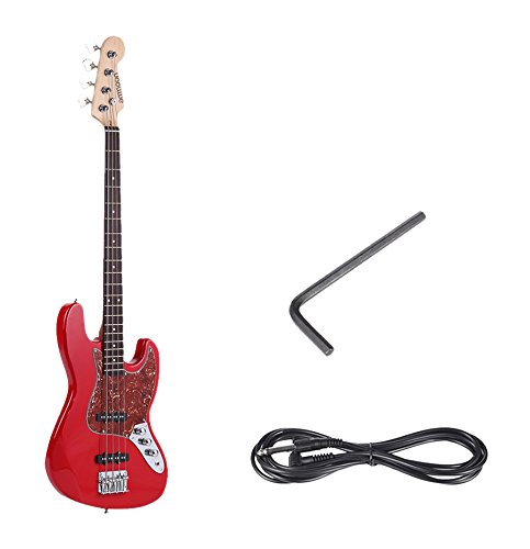 ammoon-Solid-Wood-4-String-JB-Electric-Bass-Guitar-Basswood-Body-Rosewood-Fretboard-21-Frets-with-635mm-Cable