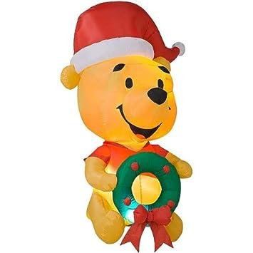 Gemmy Egg Noggin Disney Winnie The Pooh 6 Foot Inflatable Christmas Yard Decoration