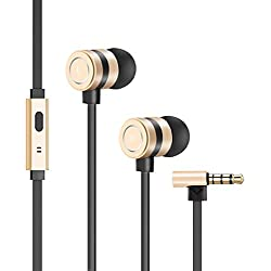 Earbuds, Besiva in-Ear Headphones Noise Isolation Headsets Heavy Bass Earphones with Microphone Compatible iPhone Samsung iPad and Most Android Phones,oo3