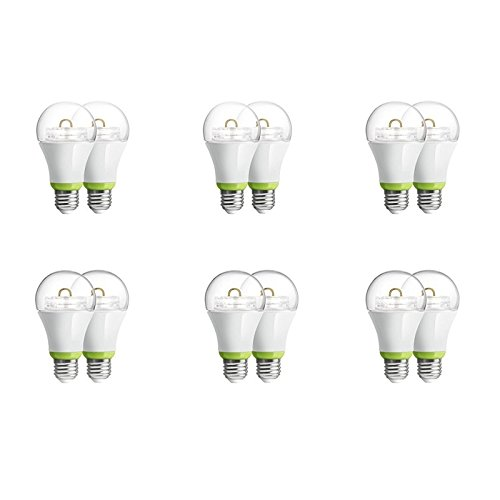 12-Pack GE Link Smart LED Light Bulb, A19 Soft White (2700K), 60-Watt Equivalent, Zigbee, Compatible with Alexa