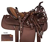 Product review for CRYSTAL TURQUOISE BARREL RACER WESTERN CORDURA LIGHT WEIGHT COMFY HORSE SADDLE SET 14 15 16 17 18