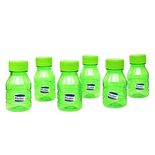 41Tb6IAchSL - HANBAO Plastic Water Bottle, 250ML, Set of 6, Green