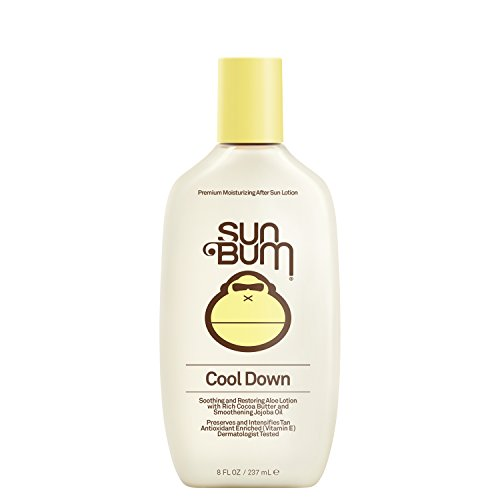 Sun Bum Cool Down Hydrating After Sun Lotion with Hydrating Aloe, Cocoa Butter and Vitamin E | Moisturizing Sun Burn Relief | Hypoallergenic, Gluten Free, Vegan | 8oz Bottle