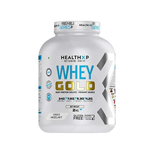 HealthXP Premium Series WHEY GOLD 2Kg (Choco Hazelnut)