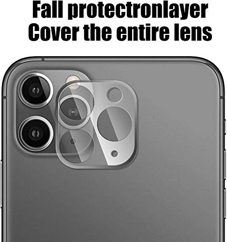 Remixmart™Lens Screen Protector Tempered Glass Compatible with iPhone 11 Pro/iPhone 11 Pro Max Camera 9H Hardness Anti-Scratch Explosion-Proof Protective Camera Lens Hard Protector (Clear) 159