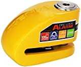 Xena (XX10-Y Disc-Lock Alarm for Motorcycle, Yellow, Steel