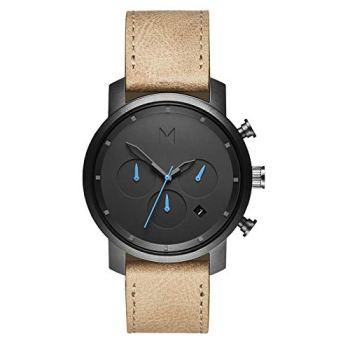 MVMT Chrono Watches | 40 MM Men's Analog Watch Chronograph | Gunmetal Sandstone