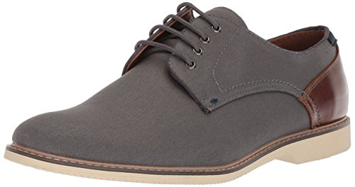 Steve Madden Men's NEWSTEAD Oxford, Grey Fabric, 8 M US