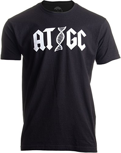ATGC | Funny Chemistry Chemist Biology Science Teacher for Men Women DNA T-Shirt-(Adult,XL) Black