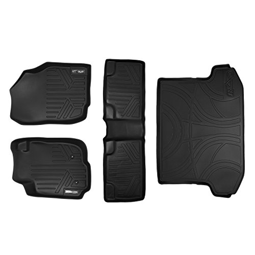SMARTLINER Floor Mats (2 Rows) and Cargo Liner Set Black for 2006-2012 Toyota RAV4 Without 3rd Row Seat