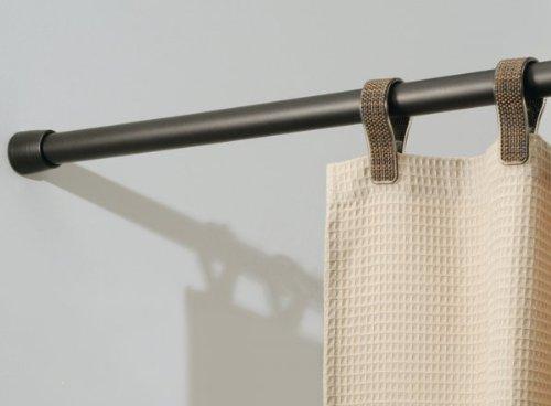 InterDesign Cameo Metal Tension, Adjustable Customizable Curtain Rod for Bathtub, Shower Stall, Closet, Doorway, 26-42 Inches Bronze