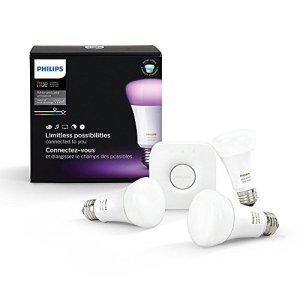 Philips Hue White and Color Ambiance A19 60W Equivalent LED Smart Bulb Starter Kit (3 A19 Bulbs and 1 Hub Compatible… 5