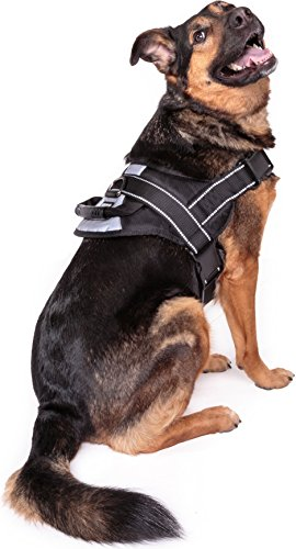 Friends Forever No Pull Dog Harness Large Breed - Harnesses for Large Dogs, Black Dog Vest with Handle & 3M Reflective Material for Extra Control and Safety 1