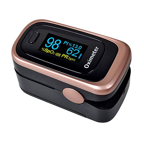 Pulse Oximeter Fingertip Blood Oxygen Saturation Monitor FDA Approved for Children & Adult (Battery & Lanyard Included)(Rose Gold)