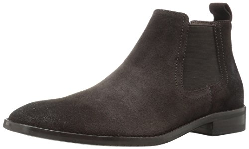 71c hniFPXL Suede ankle boot with dual goring panels, pull-on tab, and stacked heel Supple leather lining