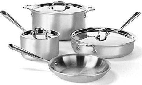 All-Clad-700393-MC2-Professional-Master-Chef-2-Stainless-Steel-Bi-Ply-Bonded-Oven-Safe-PFOA-Free-Cookware-Set-7-Piece-Silver
