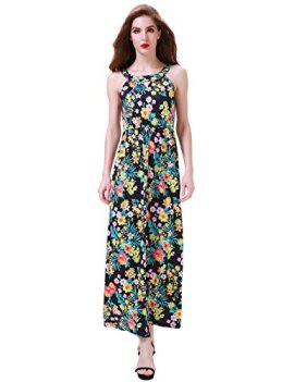 f98a0c13526 Aphratti Women s Sleeveless Bohemian Halter Long Beach Maxi Summer Dresses