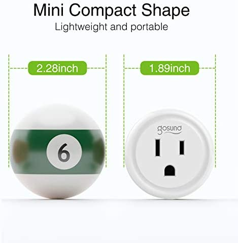 Gosund Smart Plug Works with Alexa and Google Home, 2.4GHz Wifi enabled Remote Control Smart Outlet, No Hub Required,ETL Listed(2 Packs) 18