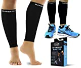 Pro Calf Compression Sleeve Men and Womens (20-30mmHg) - Shin Splint Leg Compression Sleeve for Instant Leg Pain Relief, Circulation, Recovery Socks - Compression Sleeves for Runners, Cramps