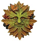 5 Inch Hand Painted Resin Nature Face Greenman Wall Plaque