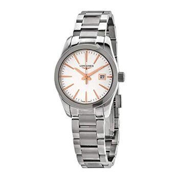 Longines orologio Conquest Classic 29,5mm Bianco Acciaio quarzo L2.286.4.72.6