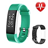 Letsfit Fitness Tracker HR, Activity Tracker Watch with Heart Rate Monitor, Pedometer, Sleep Monitor, 14 Sports Modes, Step Counter, Calorie Counter, IP67 Waterproof Fitness Watch for Kids Women Men