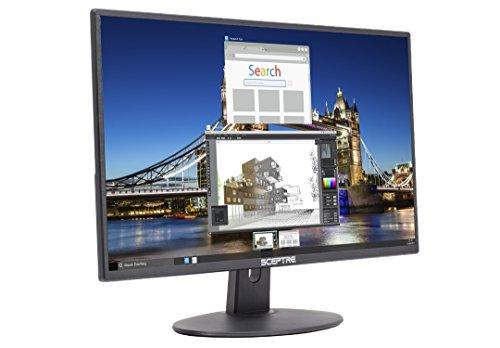 Sceptre E205W-16003R 20' 75Hz Ultra Thin Frameless LED Monitor 2x HDMI VGA Build-in Speakers, Metallic Black 2018