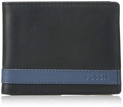 Fossil Men's Quinn Leather Bifold Flip ID Wallet