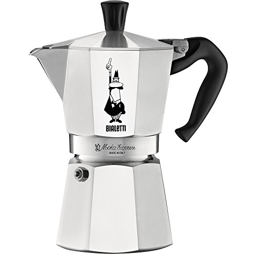 The Original Bialetti Moka Express - 6 Cup Stovetop Coffee Maker with Safety Valve