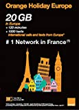 Orange Holiday Europe New Package - 20GB Internet Data in 4G/LTE + 120 mn + 1000 Texts in 30 Countries in Europe