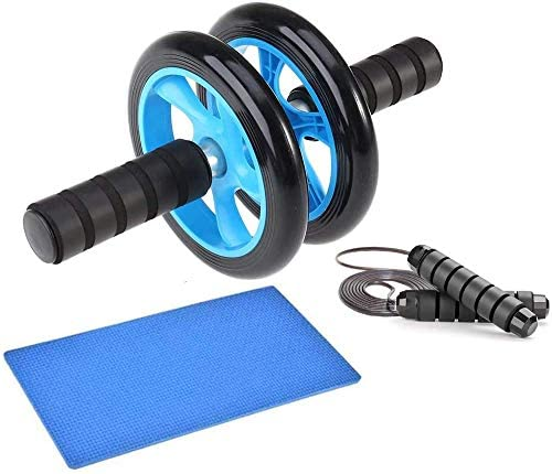 EPROSMIN Ab Wheel Workout Gear Ab Roller - 3 in 1 Fitness Equipment Set Ab Roller Resistance Bands Jump Rope Pull Rope - Ab Exercise Equipment Used as at Home Workout Equipment for Both Men & Women 3