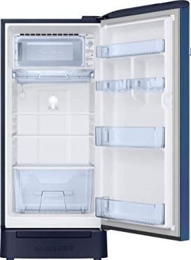 Samsung-198-L-5-Star-Inverter-Direct-Cool-Single-Door-RefrigeratorRR21T2H2WCUHL-Camellia-Blue-Base-Stand-with-Drawer