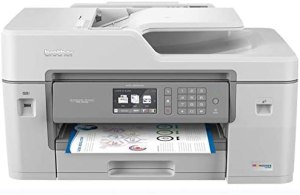 Brother MFC-J6545DW INKvestmentTank Color Inkjet All-in-One Printer with Wireless, Duplex Printing, 11″ x 17″ Scan Glass and Upto 1-Year of Ink-in-Box, MFC-J6545dw, Amazon Dash Replenishment Ready
