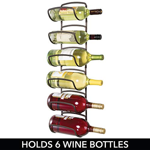 Simple Modern Metal Wall-Mounted Wine Rack