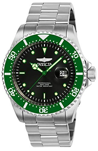 Invicta-Mens-Pro-Diver-43mm-Stainless-Steel-Quartz-Watch-Silver-SilverGreen-Model-23384-25714