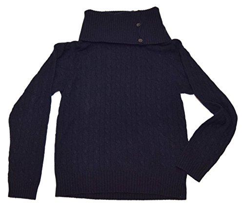 91c324fR7aL Polo Ralph Lauren-Black Label Color: Navy Features: Button Turtleneck, Long Sleeves