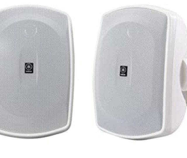 Yamaha Ns Awwh  Way Indoor Outdoor Speakers Pair White