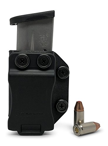 Concealment Express Single IWB/OWB KYDEX Magazine Holster/Mag Carrier: fits S&W M&P Shield 9/40 - Ambidextrous - Concealed Carry - Adj. Retention - US Made